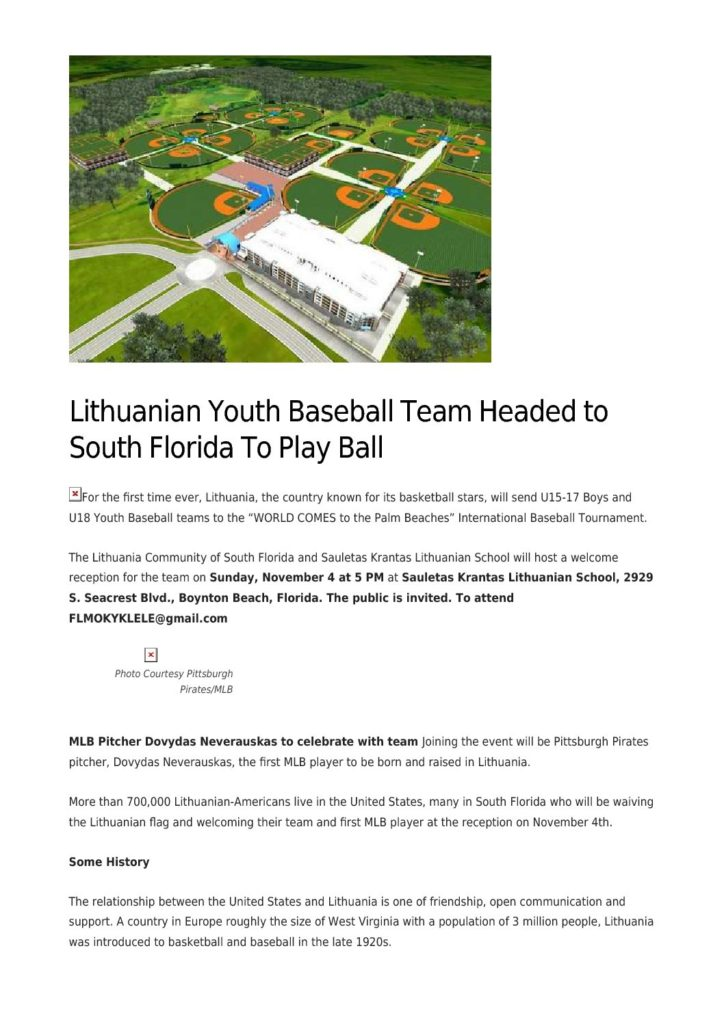 Lithuanian Youth Baseball Team Headed to S Florida to Play Ball_ SFL Reporter